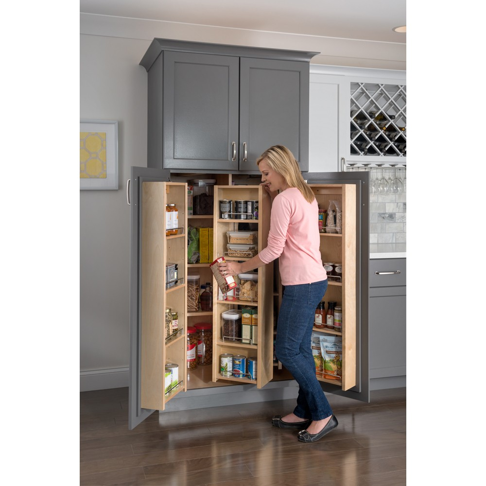 "pantry door mount cabinet organizer 12"" x 45"" - pantry"